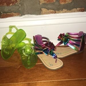 Lot of two pairs of sandals